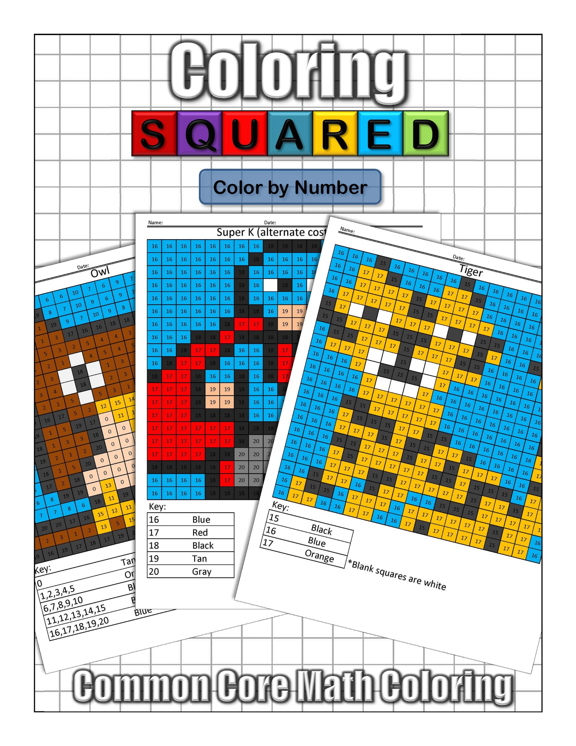 Coloring Squared: Color by Number: Cameron Krantzman: 9781939668097 ...