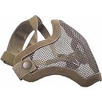Militar-TLD Mascarilla protectora para airsoft (cinta elástica ajustable, rejilla metálica), color Tan Envio 24 horas