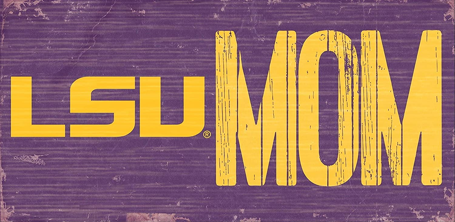 Fan Creations LSU Tigers Mom Sign Wooden Sign
