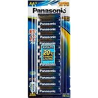 Panasonic AA Blister Pack Alkaline Batteries, 1.5V, 12ct