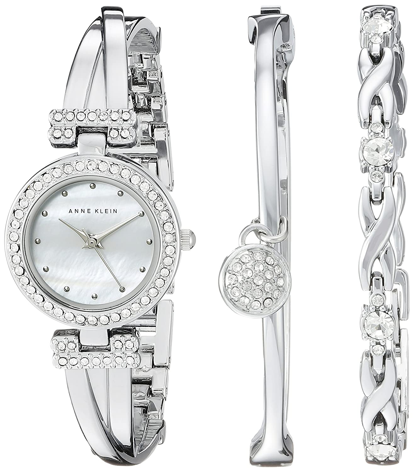 ak bangle bracelets silver accented tone bangles dp crystal watches watch bracelet and set klein com s anne women amazon sets swarovski
