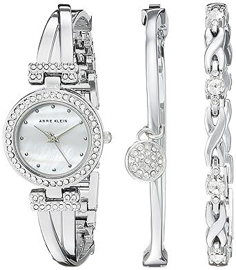 Amazon Com Anne Klein Women S Ak 1869svst Swarovski Crystal