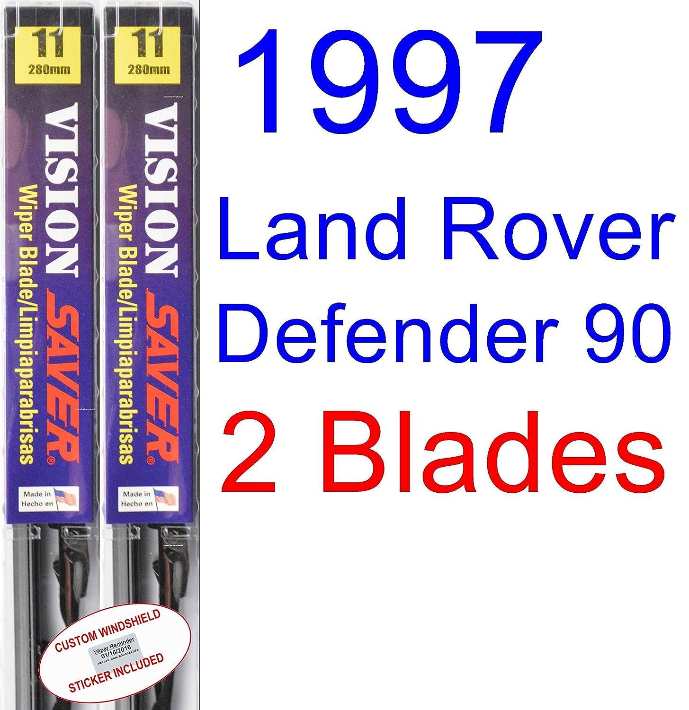 Amazon.com: 1997 Land Rover Defender 90 Replacement Wiper Blade Set/Kit (Set of 2 Blades) (Saver Automotive Products-Vision Saver): Automotive