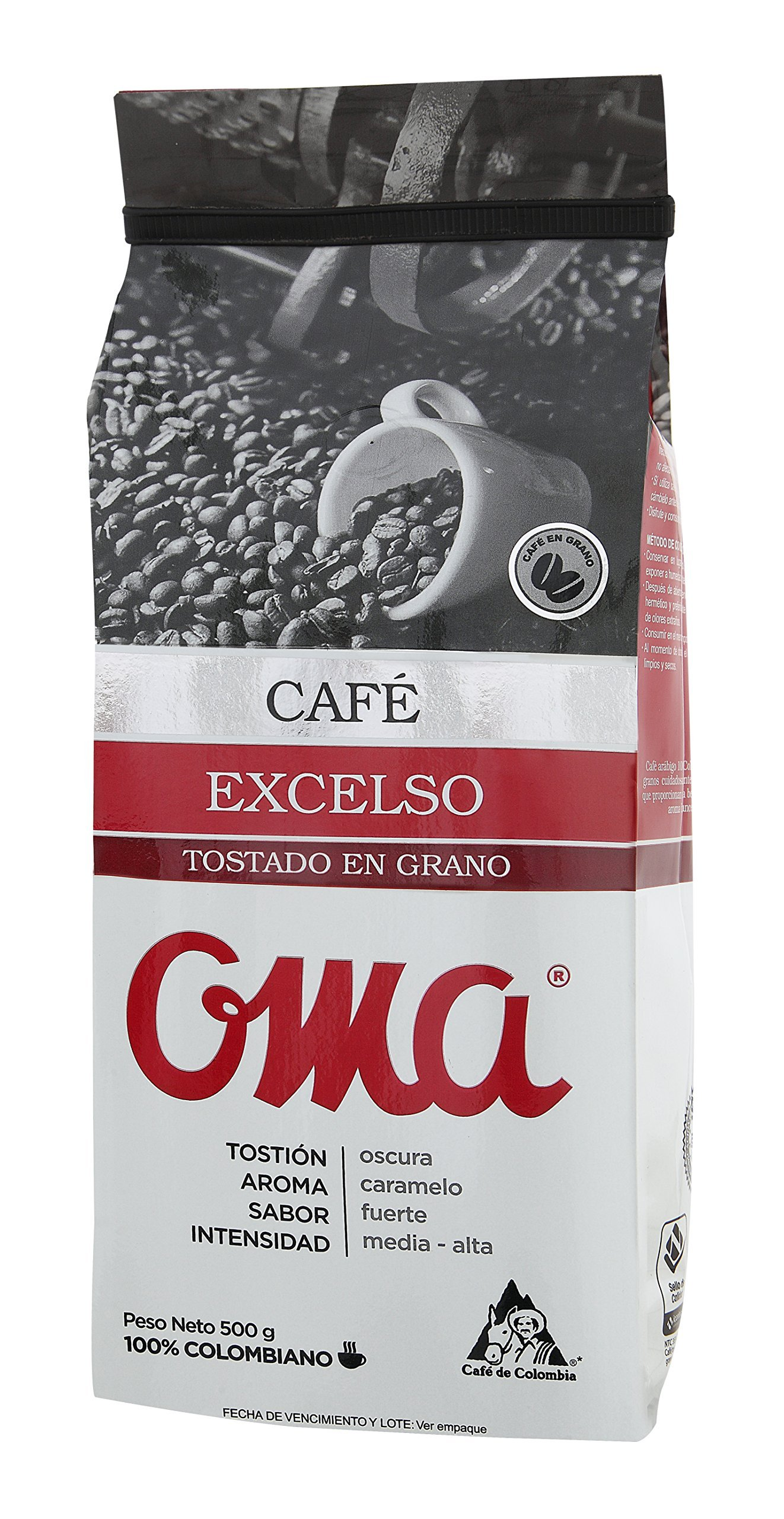 OMA Excelso Colombian Coffee 500gr-17.6 oz -Whole Beans