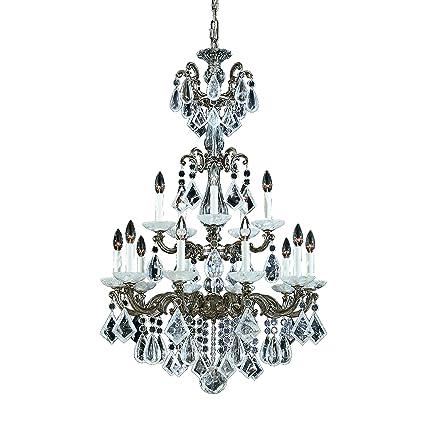 Image Unavailable - Schonbek 5410-48 Swarovski Lighting La Scala Rock Crystal Chandelier