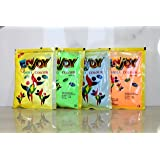 NeON UV Glow Holi Rangoli Color Powder Gulal Gulaal - Made of Maize Floor, Skin-safe & Non-Toxic (Pack of 4 Assorted Colours) 100g each - Export Certified