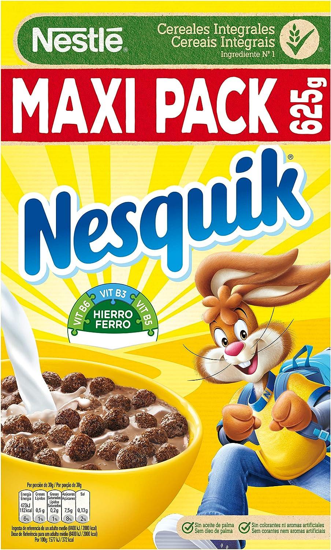 Nesquik - Cereales con Chocolate - Pack de 2 x 625 g: Amazon.es: Alimentación y bebidas