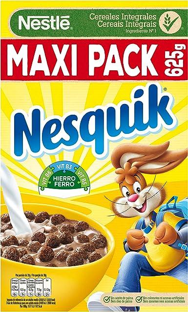 Nesquik - Cereales con Chocolate - Pack de 2 x 625 g: Amazon.es ...