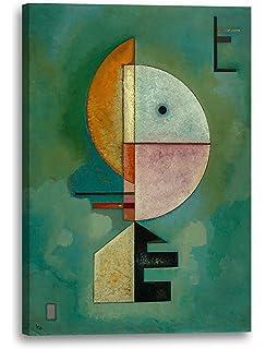 1929 Wassily Kandinsky Empor Lein-Wand-Bild Kunstdruck
