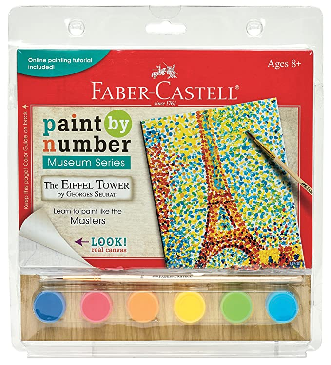 Amazon Faber Castell 14300 Paint By Museum Series The Eiffel Tower Playset Toys Games