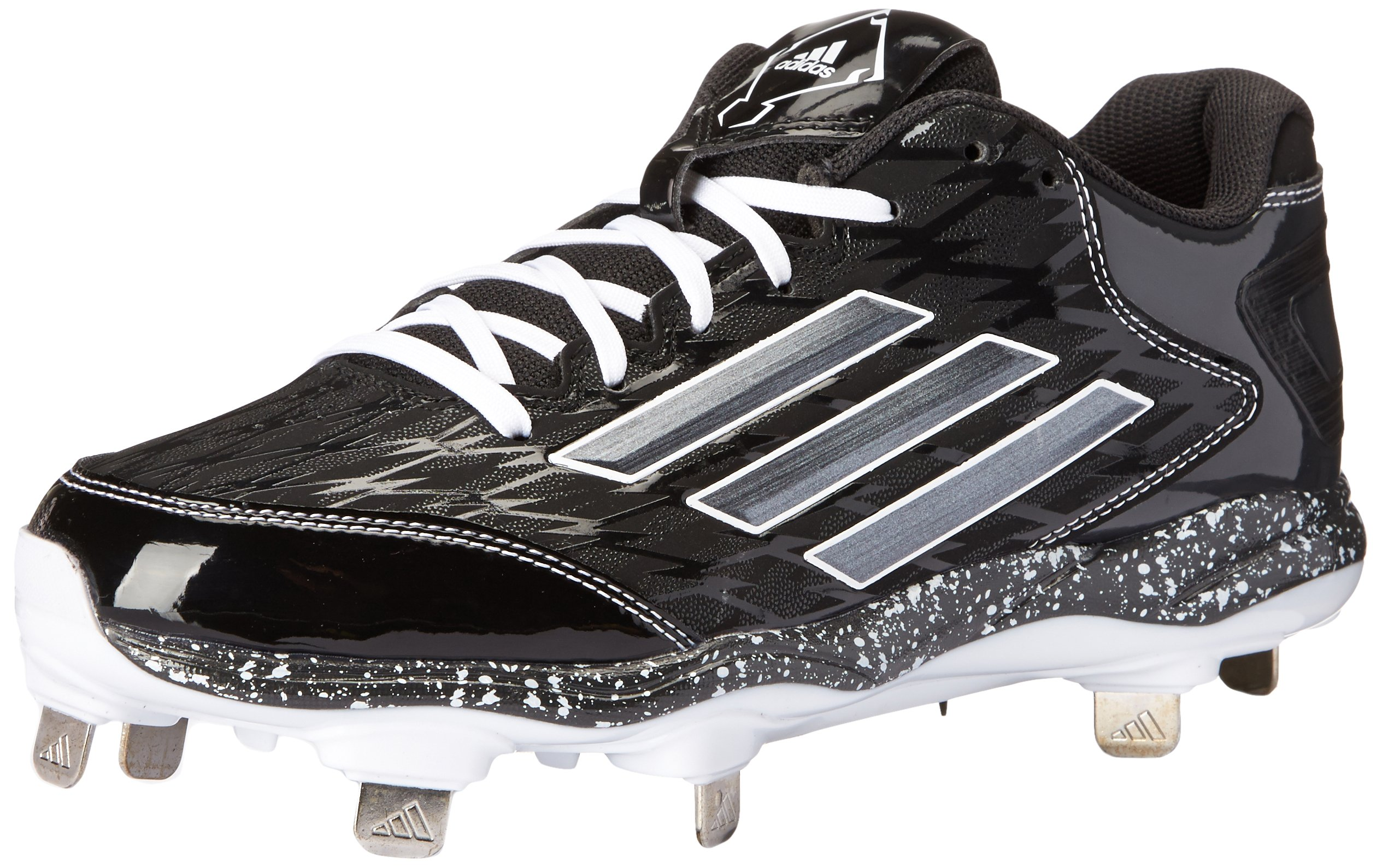 adidas Performance Women's PowerAlley 2 W Softball Cleat, Black/Carbon/White, 7 M US