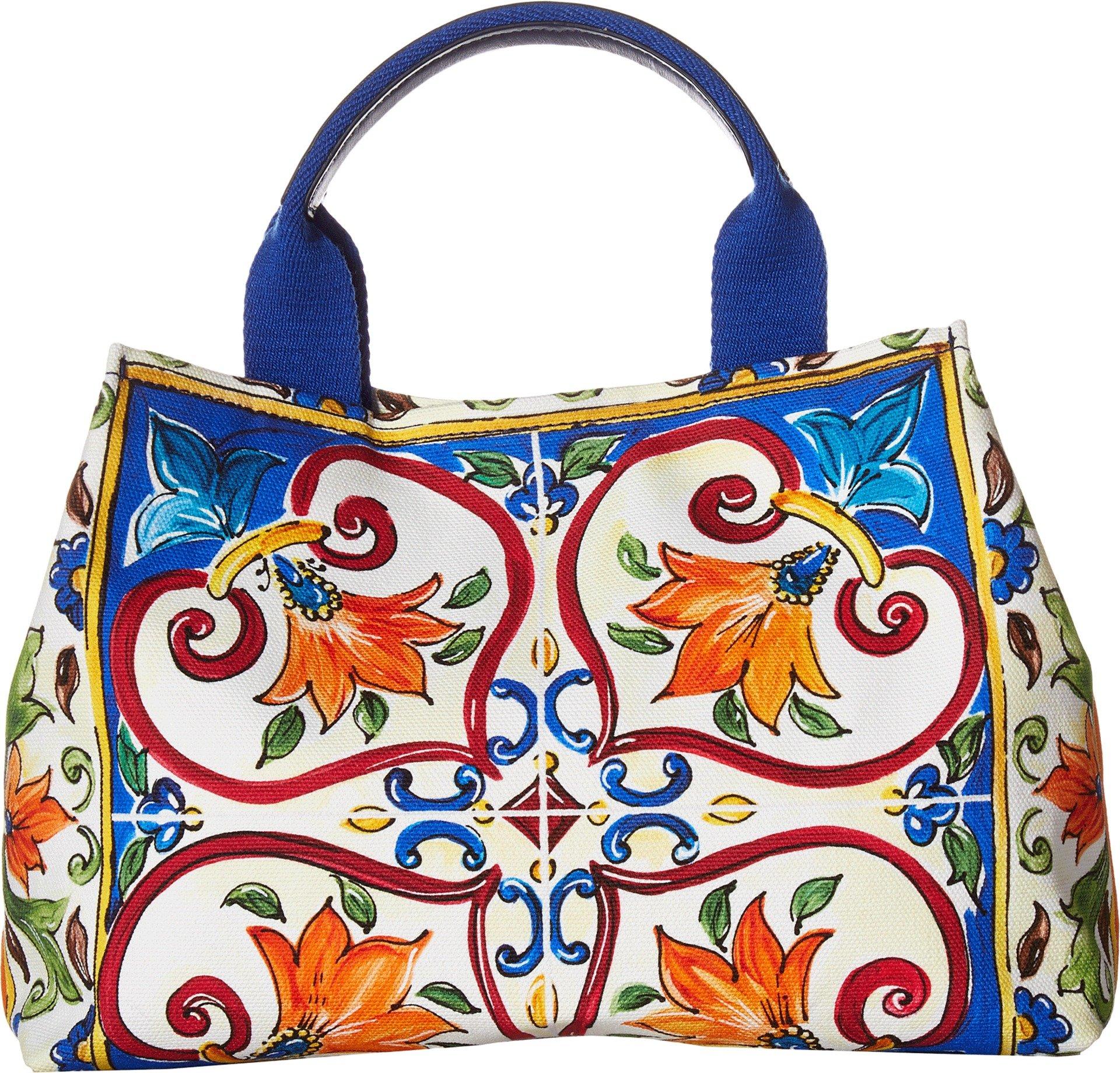 Dolce & Gabbana Kids Women's Top-Handle Bag White Print One Size