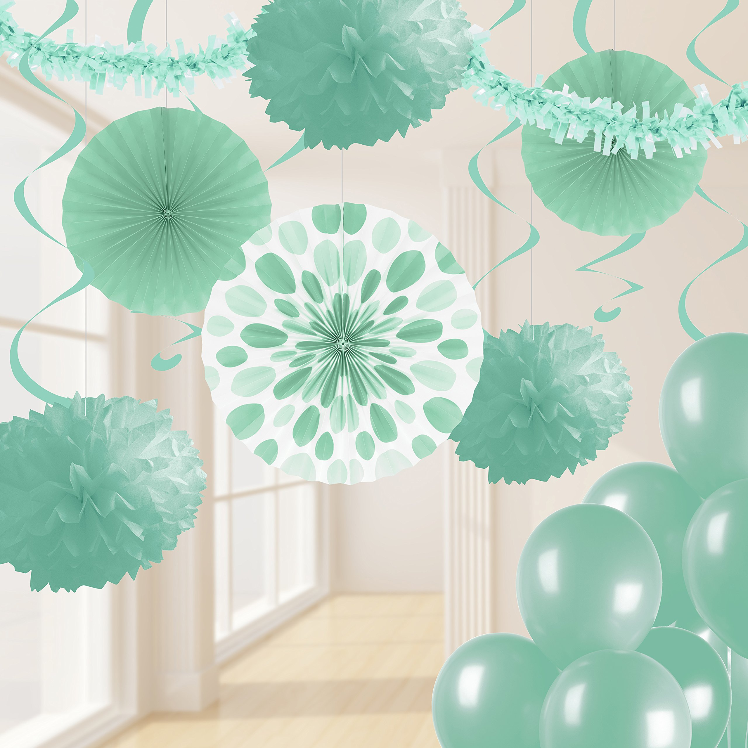 Creative Converting Mint Green Party Decorations Kit