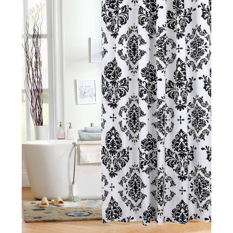 Mainstays Classic Noir 70 x 72 Shower Curtain, Black