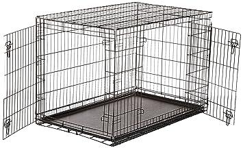 doubledoor folding metal dog crate 48 inches