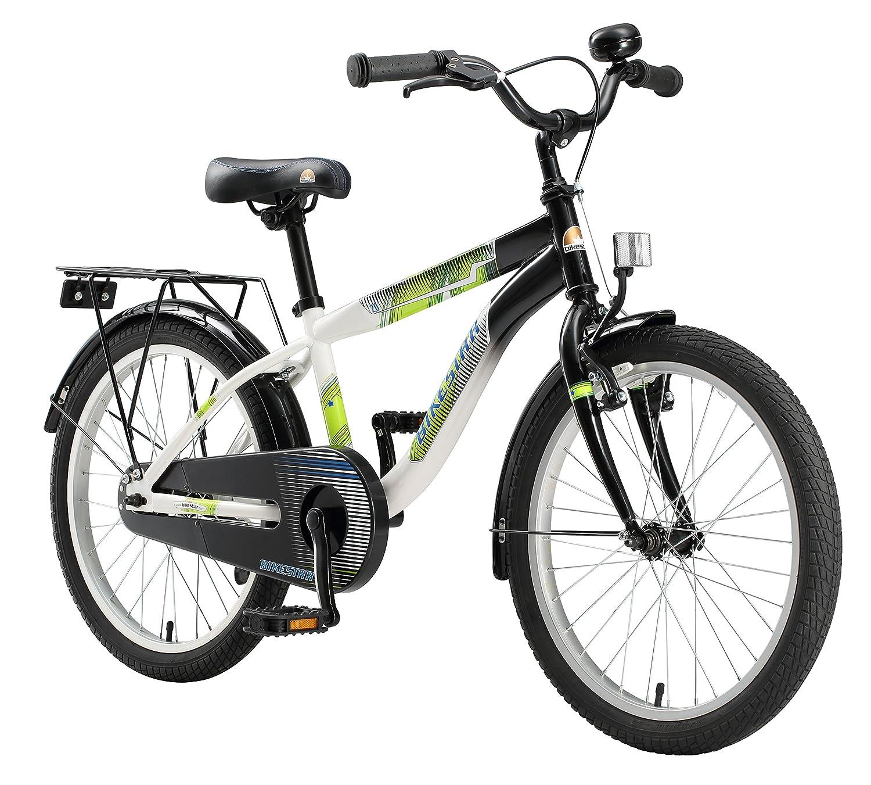 BIKESTAR ®オリジナルプレミアム安全スポーツ子供用バイク自転車Sidestand and Accessories for Age 6年古い子供  20インチモダンEdition for Girls / Boys  ブラック&ホワイト B01HU14QWE