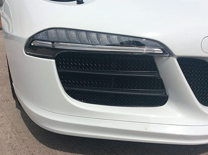 With Parking Sensors Front Grille Set Zunsport Compatible With Porsche Boxster 981 2012 to 2016 - Black finish