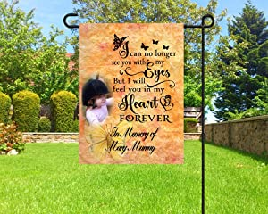 """Personalized Flag,Garden Flag,Memorial Flag,Photo Flag,in Memory Flag,Cemetery Decoration, 12"""" x 18"""""""