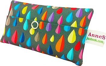 Taschentücher Tasche Regentropfen bunt Raindrops Design Adventskalender Befüllung Wichtelgeschenk Mitbringsel Give away Mitarbeiter Weihnachten