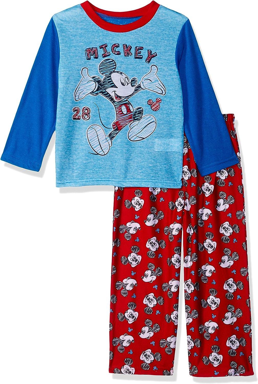 Disney Mickey  Mouse Toddler Boys  2 Pc Pajama Set Flame Resistant Size 3T