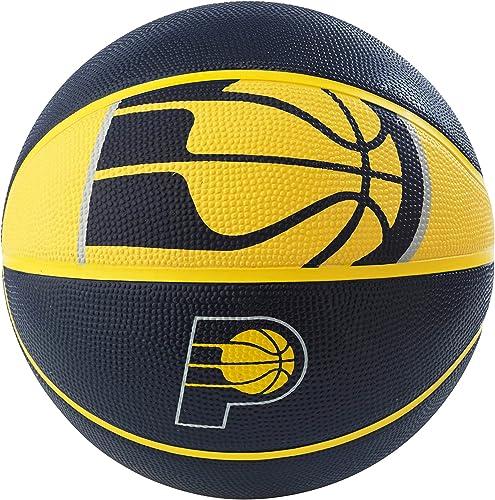 Spalding NBA Indiana Pacers NBA Courtside Team Outdoor Rubber Basketballteam Logo, Navy, 29.5