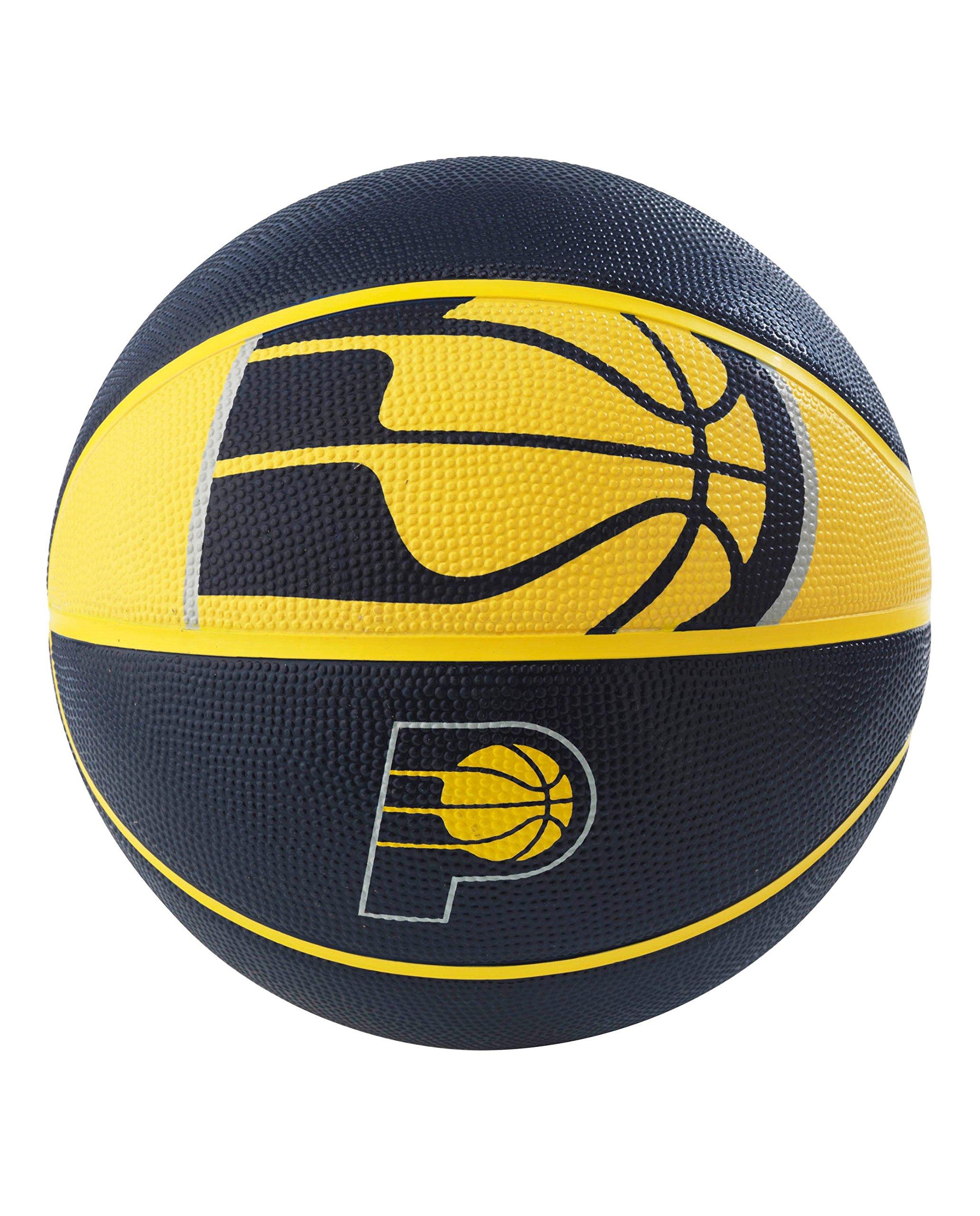 Spalding NBA Indiana Pacers NBA Courtside Team Outdoor Rubber Basketballteam Logo, Navy, 29.5''