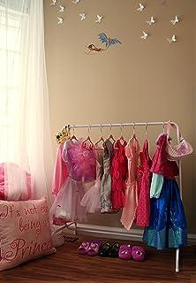 Child Garment Rack- Kids Closet Organizer- with 10 Childrens Velvet Hangers (Rack with