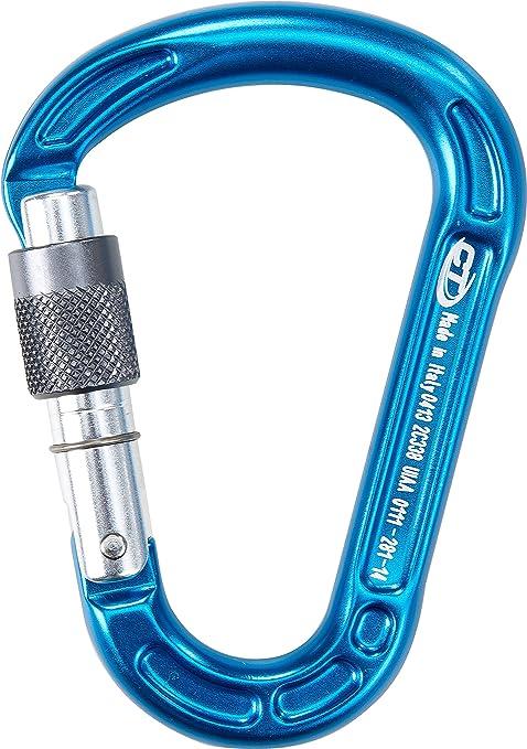 Climbing Technology Concept SG - Mosquetón de Escalada con Seguro, Color Azul
