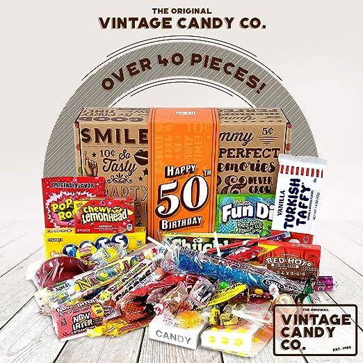 amazon com vintage candy co 50th birthday retro candy gift box