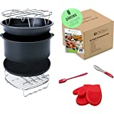 Premium Air Fryer Accessories Set - 8 Pieces - For Philips GoWise Farberware AirFryer and more brands - Fit all 3.7QT to 5.8QT ( Universal )