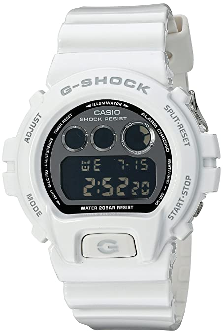 e0a9b9187626 Amazon.com  Casio G-Shock Mirror-Metallic White Mens Digital Watch - Casio  DW6900NB-7  Casio  MP3 Players   Accessories