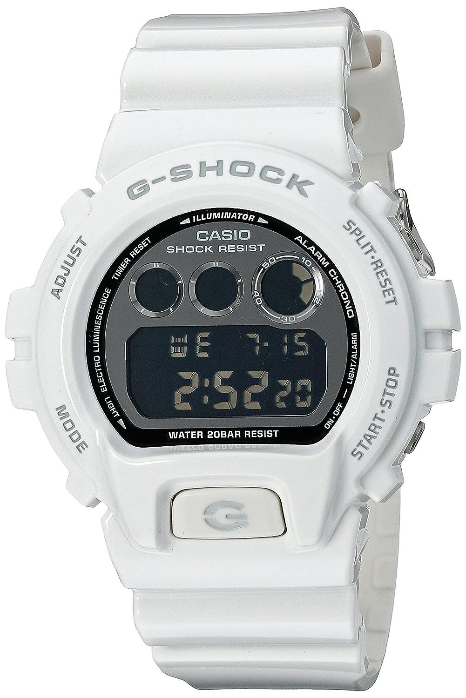 fad4d161b6280 Amazon.com  Casio G-Shock Mirror-Metallic White Mens Digital Watch - Casio  DW6900NB-7  Casio  Watches