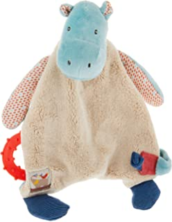 Gray Cudlie Accessories GS70865 Elephant Head Activity Lovie Security Blanket Cudlie
