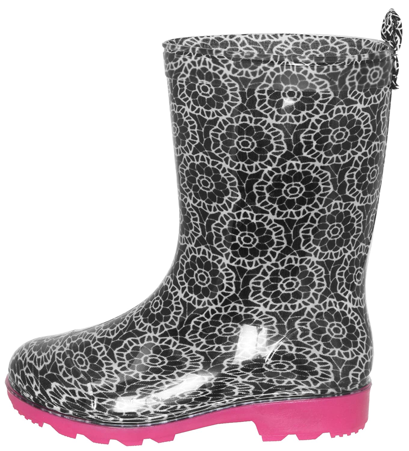 Capelli New York Girls Daisy Tie Dye Printed Glitter Jelly Rain Boots RBT-2006K