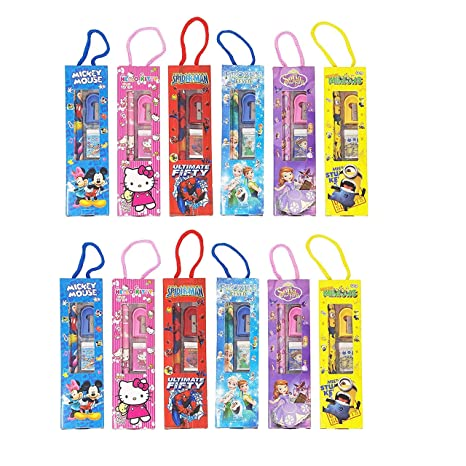 Parteet Birthday Party Return Gifts Mix Stationery Kit Set In A Fancy Box For Kids Pack Of 12 Amazonin Toys Games