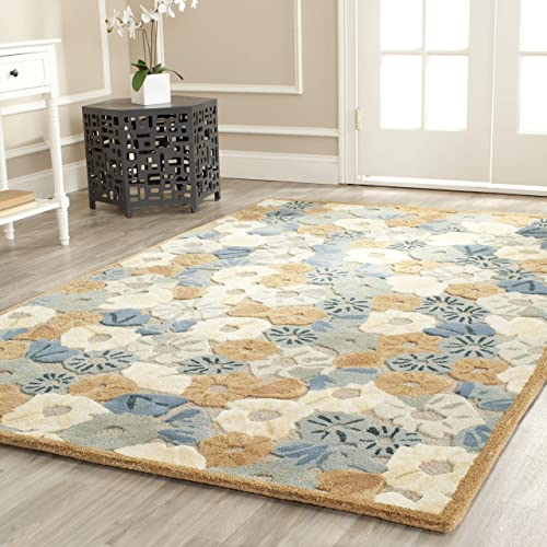 Safavieh Martha Stewart Collection MSR3625C Premium Wool and Viscose Cornucopia Beige Area Rug 8 x 10