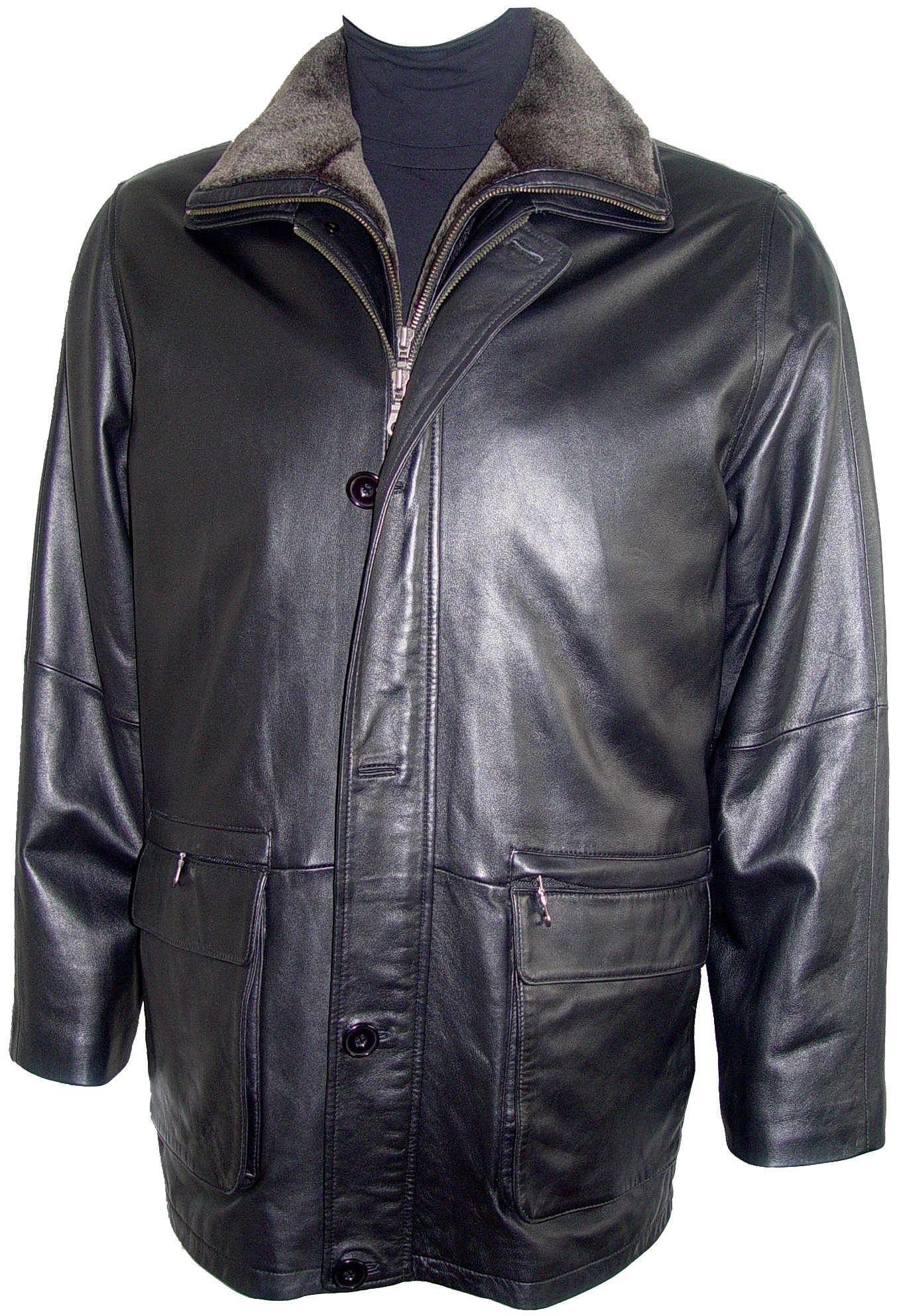 Johnnyblue Men 2002 Simply Tall Big All Size Lamb Leather Barn Coat by Johnnyblue (Image #8)