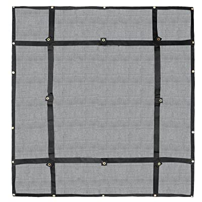 Truck Bed Cargo Net Organizer 4.75'x 6' | Heavy Duty Bungee Webbing, Adjustable & Rip Proof Mesh with Grommet Anchoring Points & Tarp | for Pickup Trucks, Trailers, Vans, Boats & More: Home Improvement