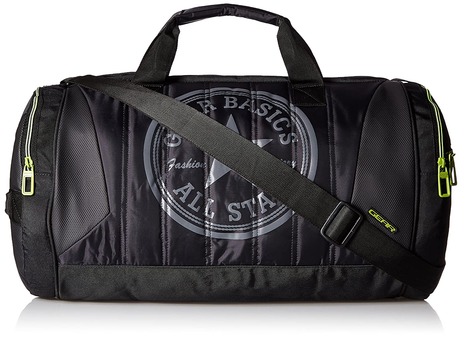 Gear Polyester 47 cms Black and Green Travel Duffel (METDFPRO20103)