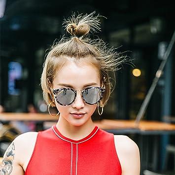 VVIIYJ Gafas de Sol para Mujer con Montura Redonda Gafas de ...