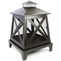 Feuerkorb schwarz XL Fire Basket ✔ eckig