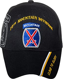 469e4618ca2e62 Officially Licensed US Army Infantry Division Black Embroidered Baseball Cap  - Multiple Divisions Available!