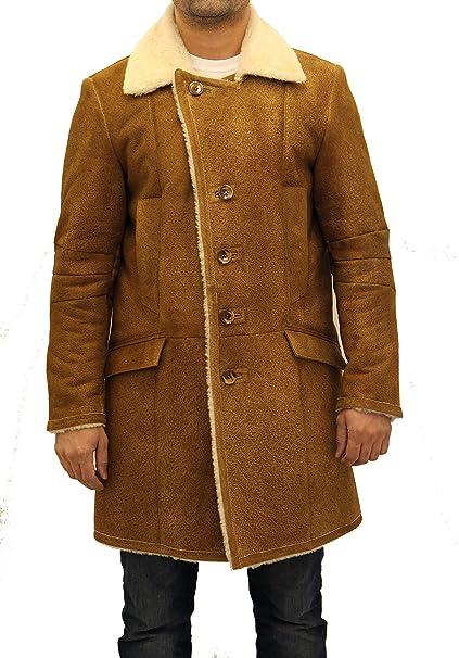 best service db500 470ae Uomo tradizionale Brown marrone chiaro con crema di pelle di ...