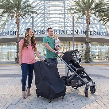JL Childress Spinner Wheelie Deluxe Car Seat Travel Bag Black