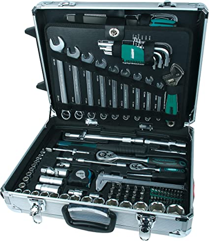 Mannesmann - M29077 - Carro de aluminio para herramientas, equipado, 159 piezas.: Amazon.es: Bricolaje y herramientas