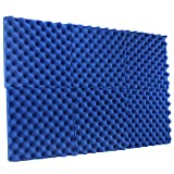 New Level 6 Pack - All Ice Blue Acoustic Panels Studio Foam Egg Crate 2'' X 12'' X 12'' (Color: Ice Blue, Tamaño: 6 Pack - 2'')