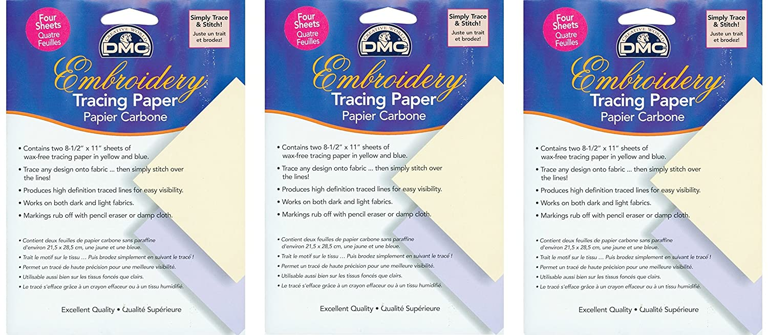 DMC U1541 Embroidery Tracing Paper, Yellow/Blue Notions - In Network