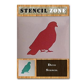 Dove Bird Assis Animal Mylar Aérographe Peinture Murale Pochoir Cinq