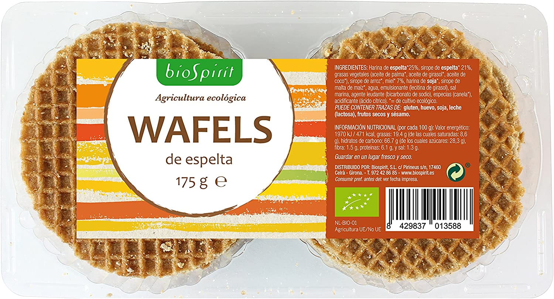Biospirit Wafels de Espelta Bio - 175 gr: Amazon.es: Alimentación ...