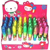 Parteet Stacking Pen Type Erasers For Kids - Pack Of 36